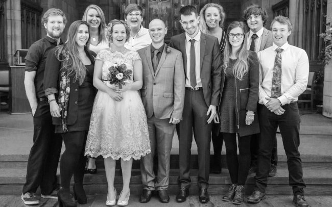Brighouse Wedding Guests Group Photograph